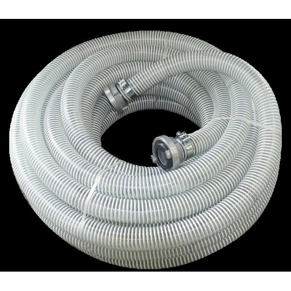 Шланг для сухого материала 55 спиральный с фитингами