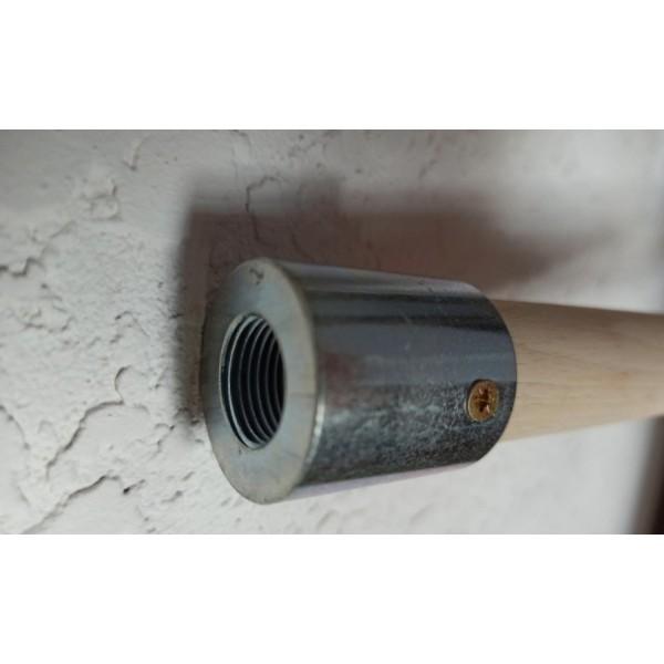 Рукоятка деревянная с накручивающимся фланцем для терки алюминиевой со сменной губкой 18мм (400х200мм)