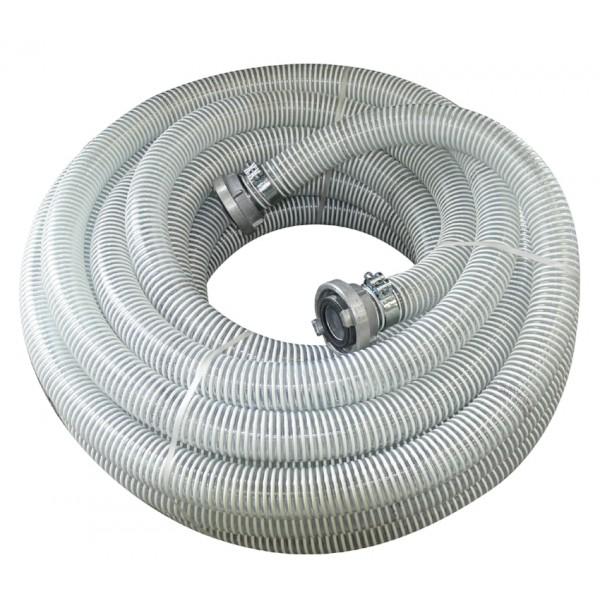 Шланг для сухого материала диам. 55 спиральный с фитингами L=25m